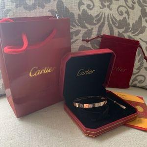 Authentic Cartier Bracelet 18K Road Gold